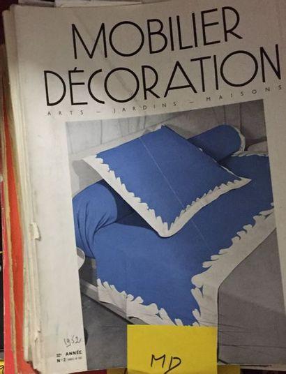 Revues d'époque Mobilier et Décoration, Art et industrie, Art Vivant