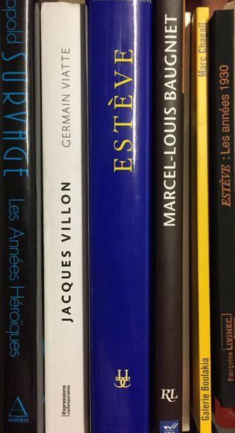 Lot de 6 livres :  Estève les années 30 // marc Chagall // Marcel-Louis Baugniet...