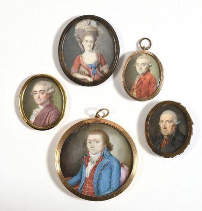 ECOLE FRANÇAISE (Vers 1770 – 75)  «Portrait...