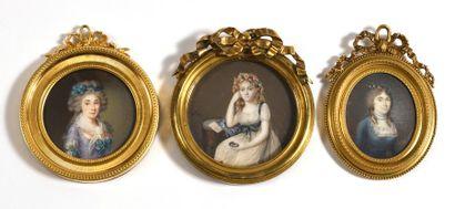 ECOLE FRANÇAISE du XIXe siècle  «Portrait...