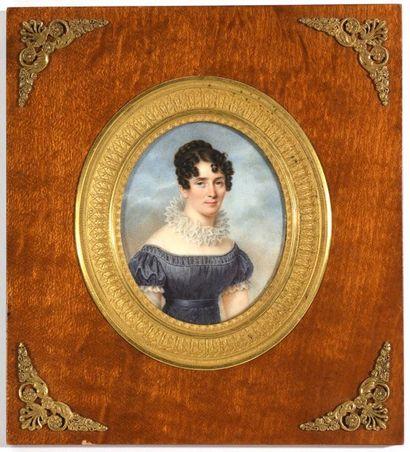 ECOLE FRANÇAISE (Vers 1810 )  «Portrait de...