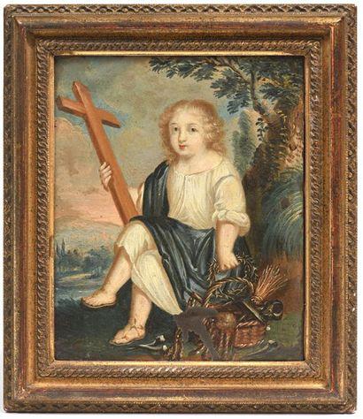 ECOLE FRANÇAISE du XVIIe siècle  «Jésus...