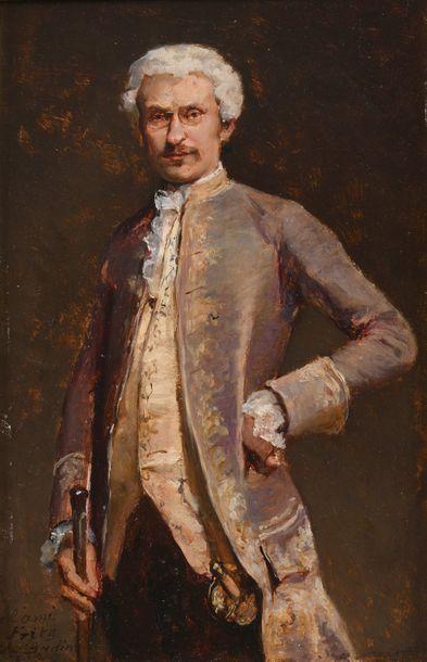 BADIN Jules  (1843 – 1919)  «Portrait d'homme...