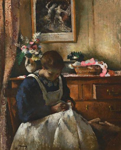 Paul Elie GERNEZ  (1888-1948)  «Jeune Femme...