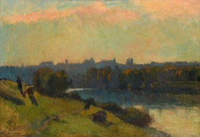 Albert LEBOURG  (1849–1928)  «Les bords de...