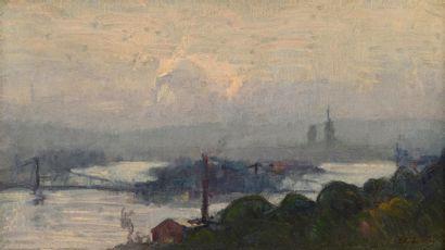 Albert LEBOURG  (1849–1928)  «Le pont des...