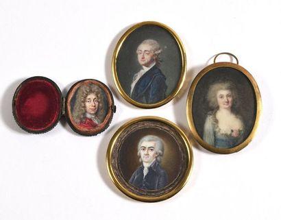 ECOLE FRANÇAISE (Vers 1780)  «Portrait de...