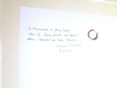 """MIR (XXe siècle)"""" Maison à Deauville"""", aquarelle, signée en bas à droite. 14x19cm...."""