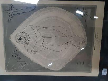 """Pierre-Yves TREMOIS (1921) """"Aphrodite"""", estampe, signée en bas dans la planche et..."""
