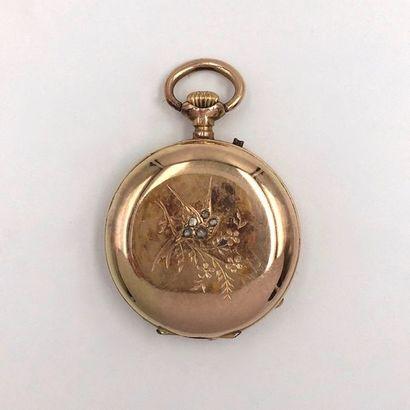MONTRE DE COL savonnette en or rose (585...