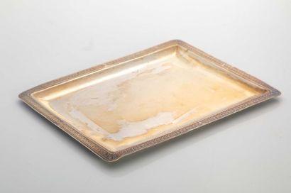 Petit PLATEAU rectangulaire en argent (950...