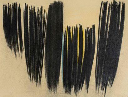Hans HARTUNG (1904-1989)  Composition  Pastel...