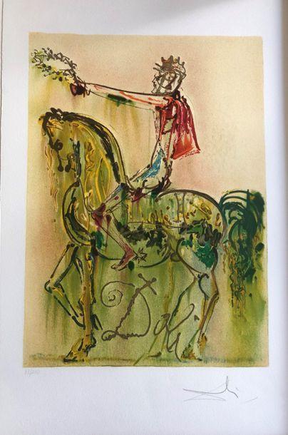 Salvador DALI (1904 - 1989)  Les chevaux...