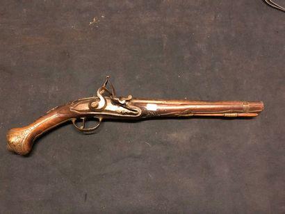 Pistolet à silex pour l'export  Vers 1730-1750....