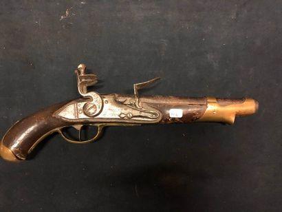 Pistolet à silex, réglementaire, modèle 1733...
