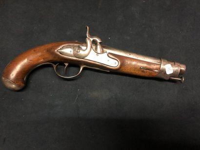 Pistolet à silex, transformé à piston modèle...