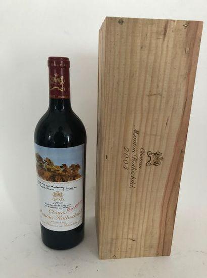 2 bouteilles MOUTON ROTSCHILD 2004 1er GCC...