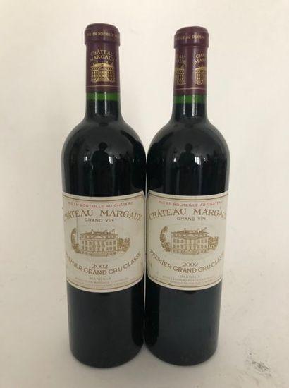 2 bouteilles CHATEAU MARGAUX 2002 1er GCC...