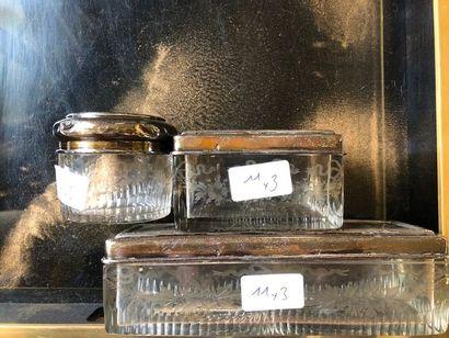 #Lot de 3 boites en verre et couvercles en...