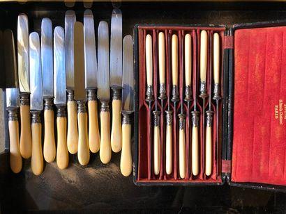 #Série de couteaux en métal et corne