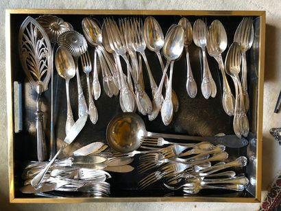 #Partie de ménagère en métal argenté
