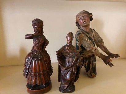 #Lot de 3 sculptures en bois