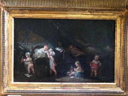 #Ecole française du XIXème siècle  L'orphelinat...