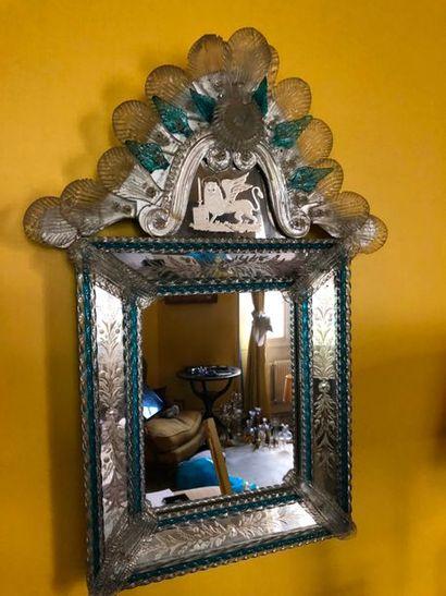 #Miroir à fronton en verre teinté