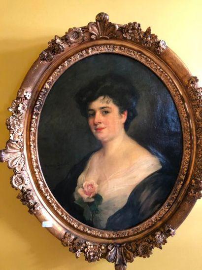 #C.BOULET (XIXème – Xxème siècle)  Portrait...