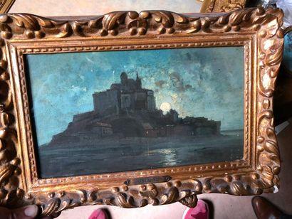 #Ecole française du XIXème siècle  Paysage...