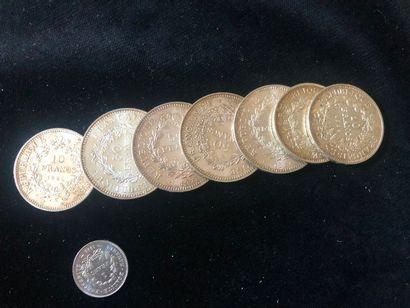 #Ensemble de pièces en argent  (1francs,...
