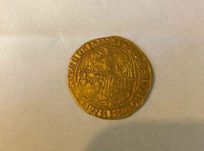 Henri VI 1422 1453, Salut d'or, frappé à...
