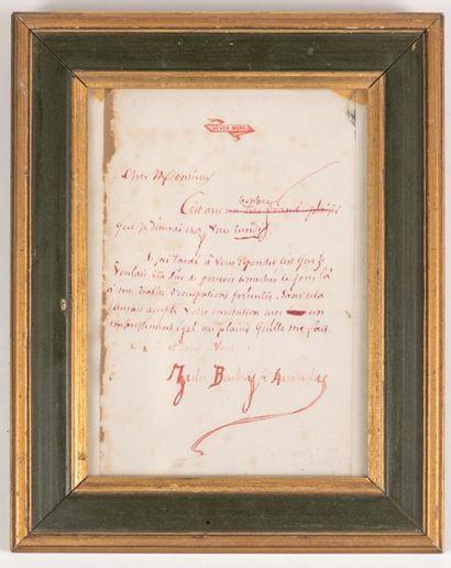 BARBEY D'AUREVILLY lettre adressé au Marquis...