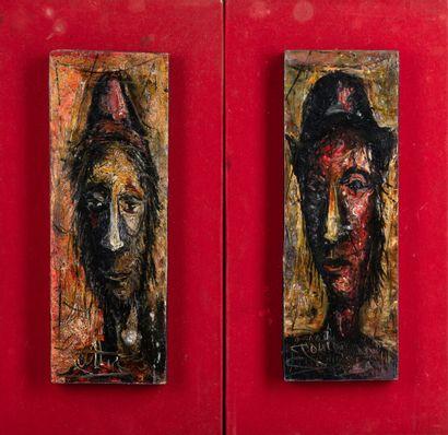Suite de deux peintures sur panneau