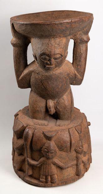 YOROUBA NIGERIA Importante statue gardienne...