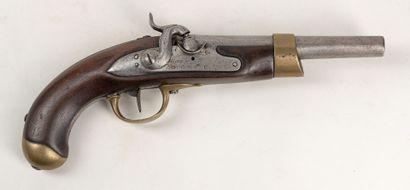 Pistolet an 13 T de cavalerie, platine marqué...