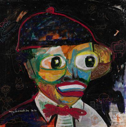 Patrick LOMOLIZA acrylique sur toile, SBG,...