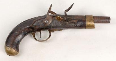 Pistolet an 13 de cavalerie, canon raccourci...