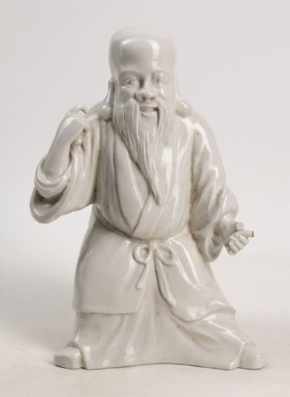 Porcelaine en blanc de chine représentant...