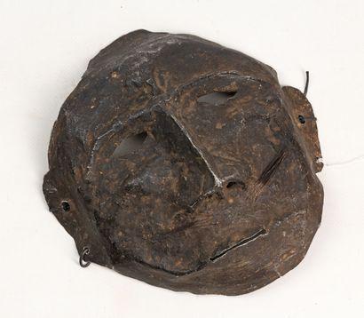 NEWAR NEPAL Masque chamanique en aluminium,...