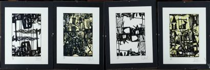 Michel LIENARD 8 lythographies 37/100, 34/100,...