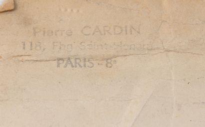 """Pierre CARDIN """"Orphée"""" dessin du costume réalisé au crayon et feutre. Tampon en..."""
