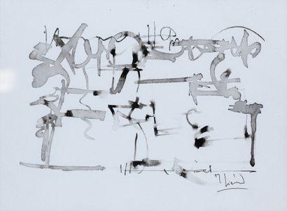 Michel LIENARD dessin à l'encre, 28.5x21...