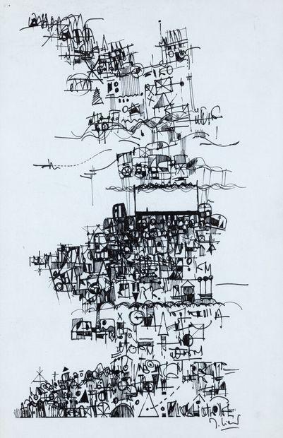 Michel LIENARD dessin à l'encre sur papier...