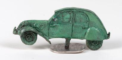 Georges LAURENT 1940 Profil 2CV Bronze sur...