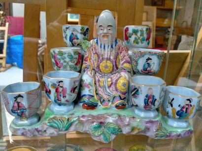 Porcelaine de Bayeux, Magot à épices chinois...
