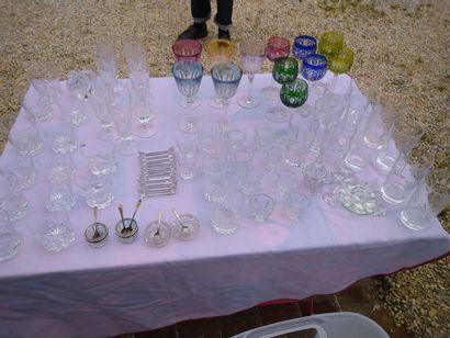 Grand ensemble verrerie et cristal : Baccarat,...