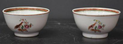 Lot de 2 pochons en porcelaine de Chine XVIII...