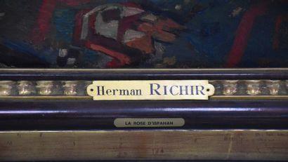 "Herman Richir ( 1866-1942) HERMAN Richir ( 1866-1942). "" La rose d'Ispahan "". Monumentale..."