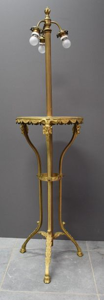 Bronze lamp in Louis XVI style. Ht 130 cm.